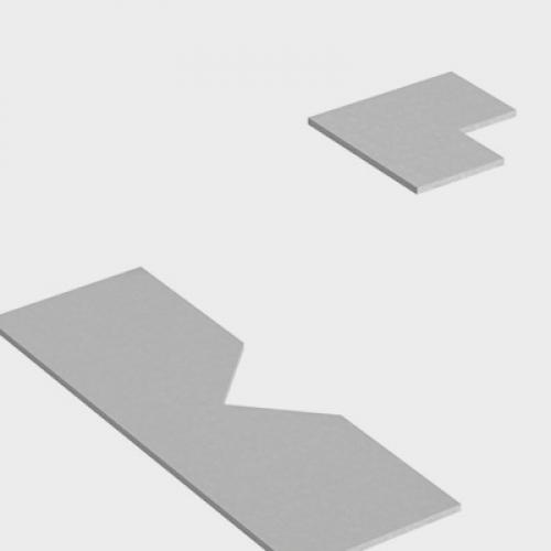 Háromszög kicsípő (90°) idomacél megmunkáló kiegészítő